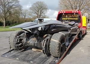 Batmobile on truck